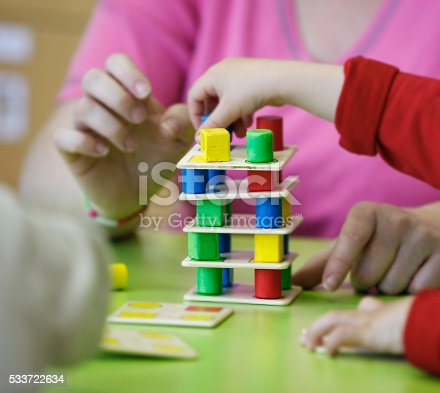 544351868 istock photo Children playing with homemade educational toys 533722634