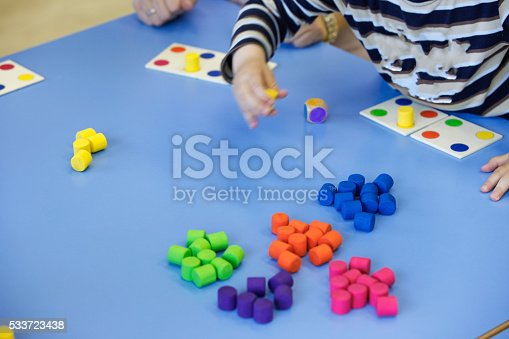 544351868 istock photo Children playing with homemade educational toys 533723438