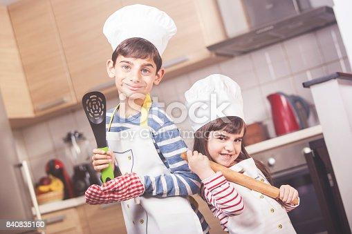 istock Children posing as chefs 840835160