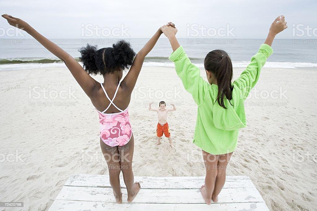 Children posing royalty-free stock photo