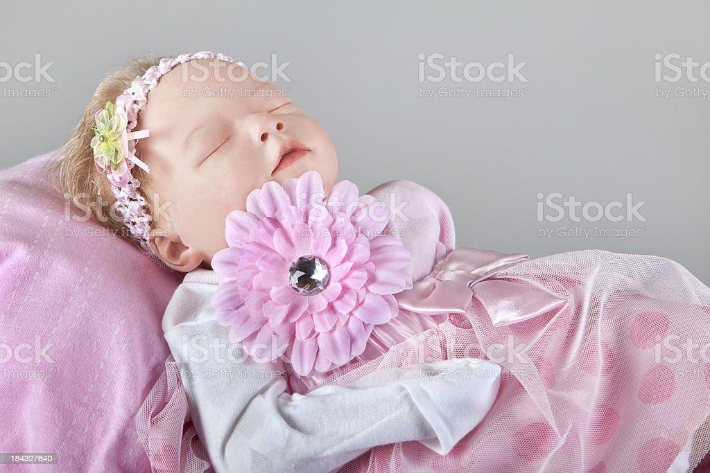 Children: Pretty pink ruffles royalty-free stock photo