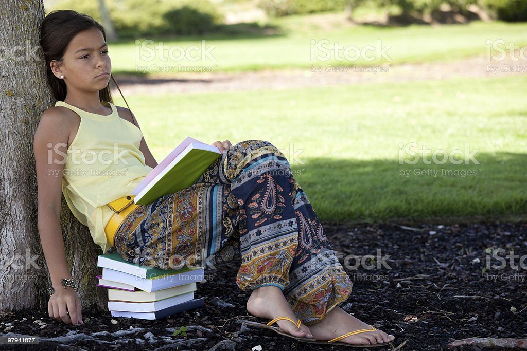 Children reading a book royalty-free stock photo