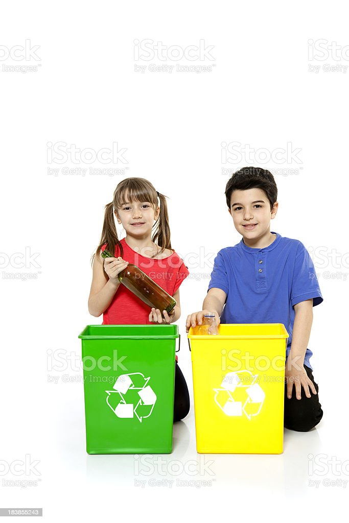 Children recycling royalty-free stock photo