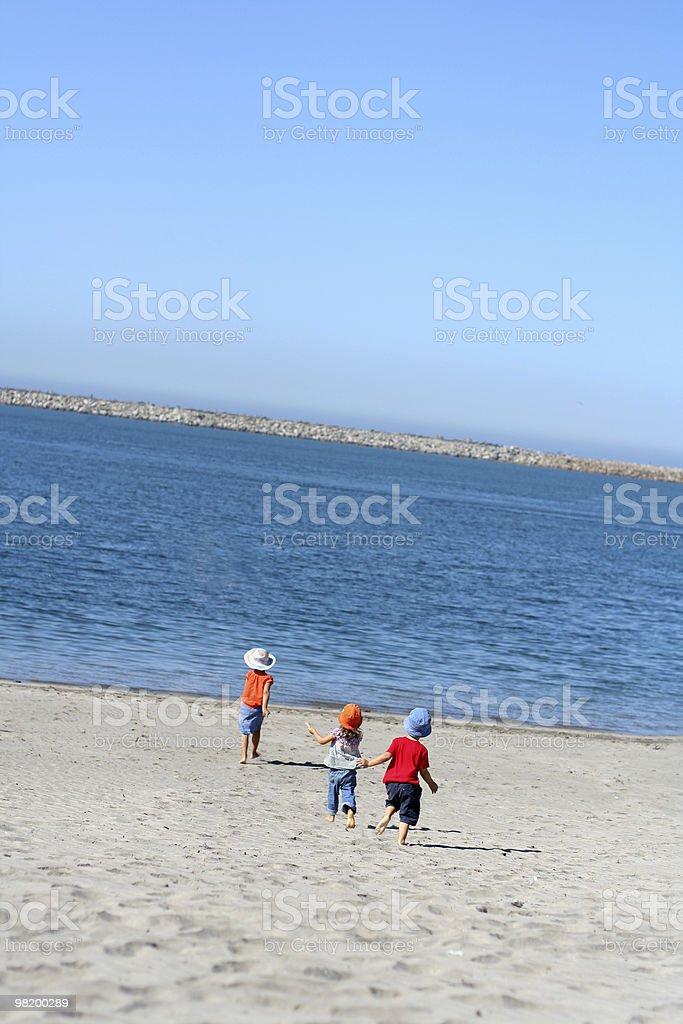 children running royalty-free stock photo