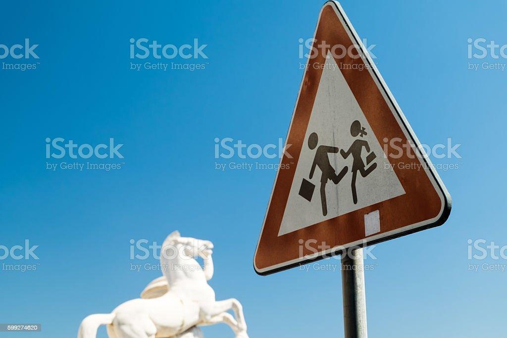 Children safety Sign stock photo