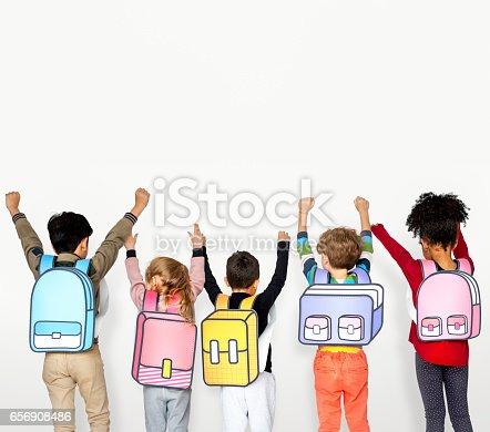 istock Children School Friends Illustration Concept 656908486