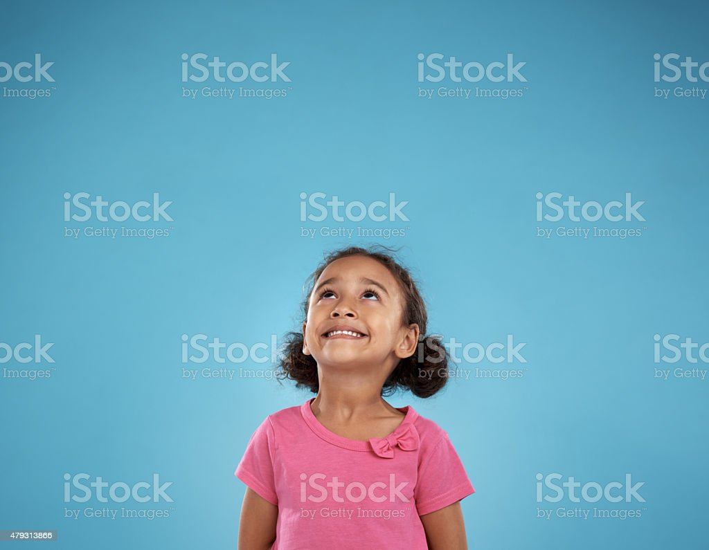 Children see magic because they look for it stock photo