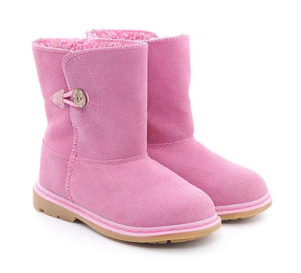 kinder sheepskin boot - lammfellstiefel stock-fotos und bilder
