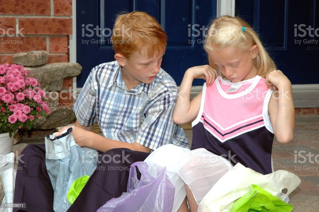 Children Shopping stock photo