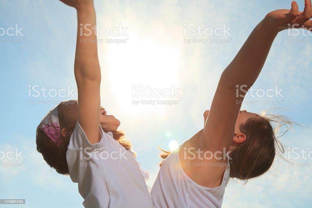 Children Sky - Mirror royalty-free stock photo