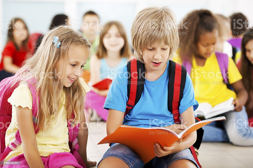 Children studying. royalty-free stock photo