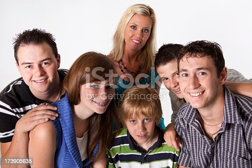 972902010 istock photo Children teens and young adults on white background 173905635