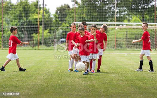 621475196 istock photo Children Training Soccer 541989138