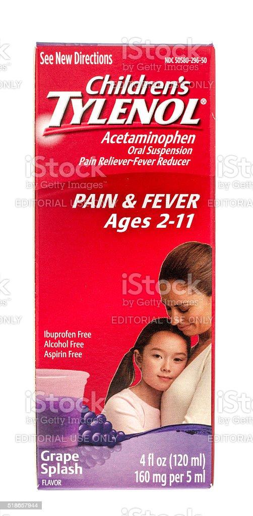 Children Tylenol stock photo