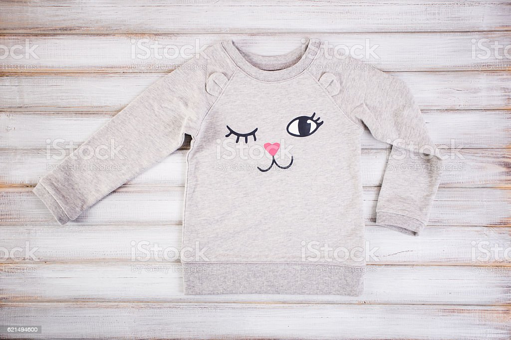 Children white sweater on a white background foto stock royalty-free