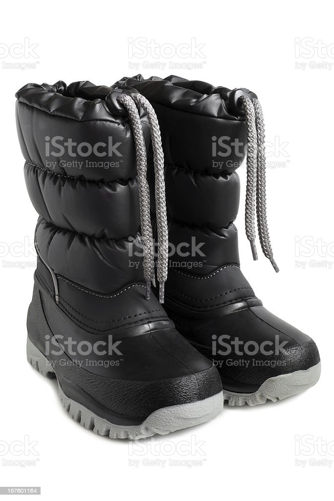 Children winter boot stock photo