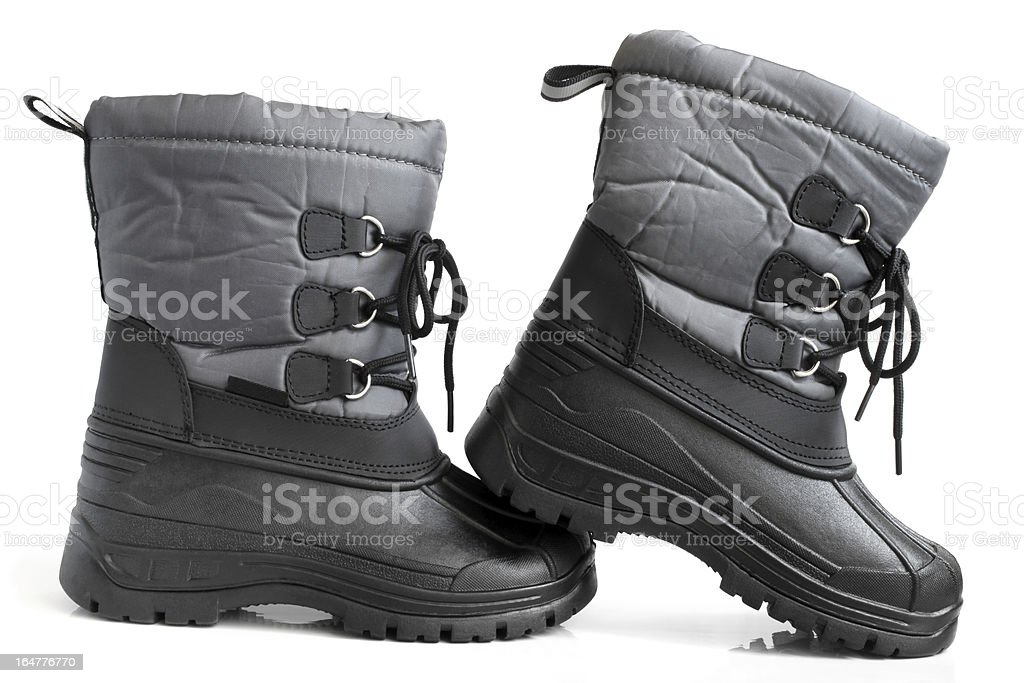Children winter boot royalty-free stock photo