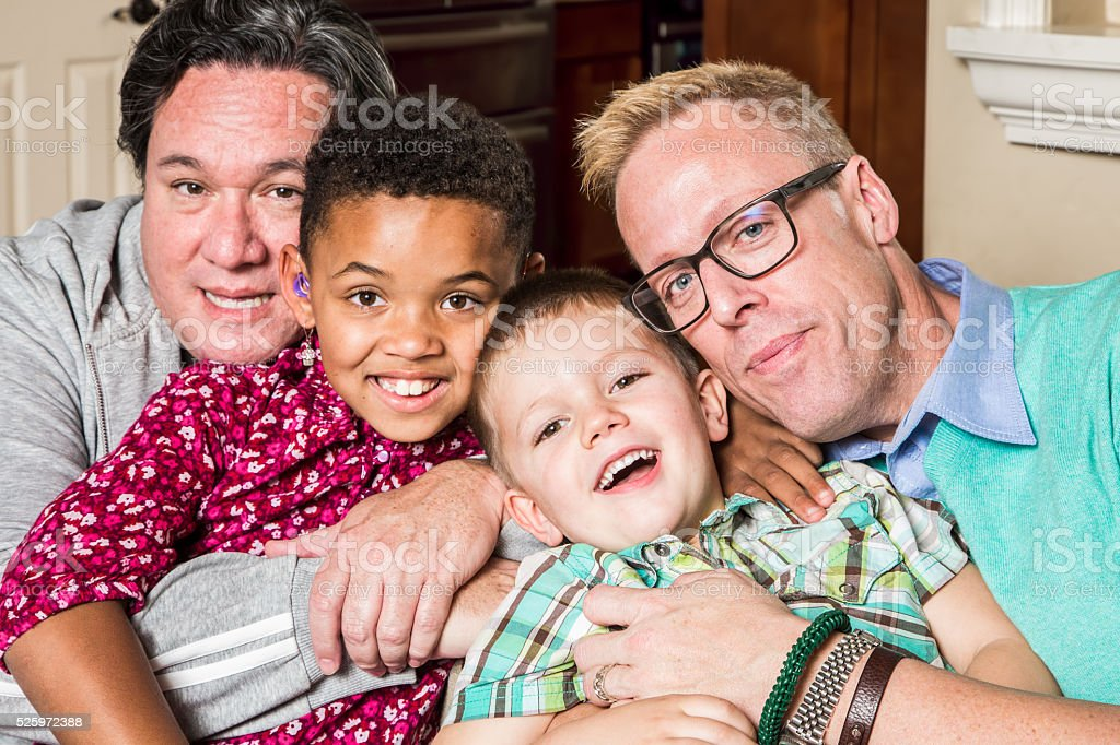 Children with Gay Parents stock photo