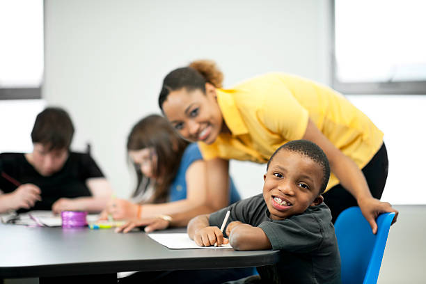Children with Special Needs stock photo