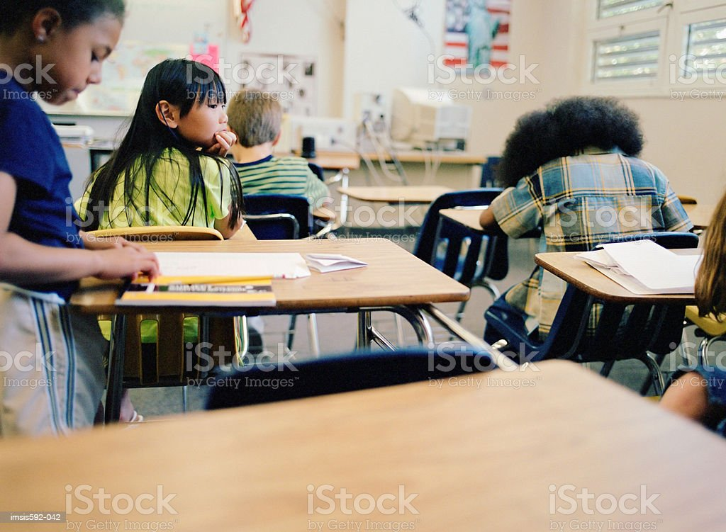 Children working in classroom royalty-free stock photo