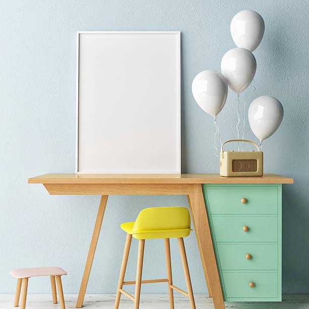 children working room,,  empty poster - bilder poster stock-fotos und bilder