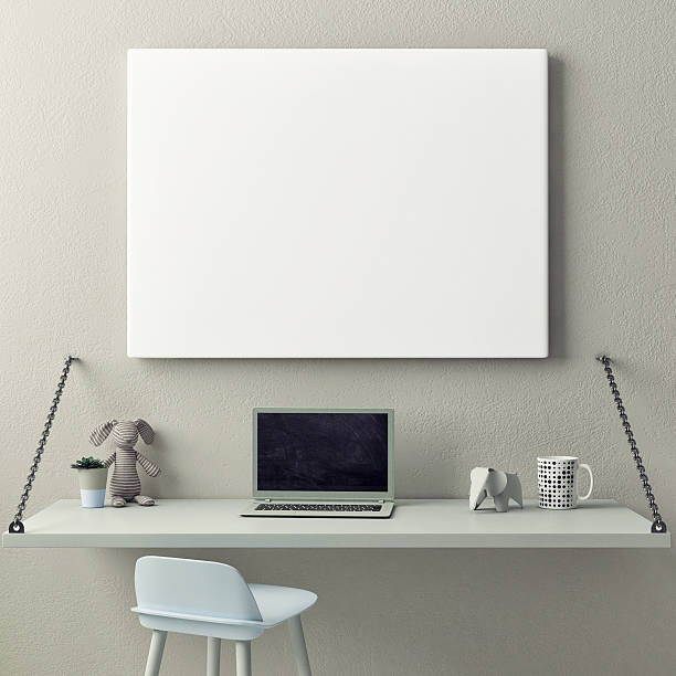 children working room,, empty poster - tafel schlafzimmer stock-fotos und bilder