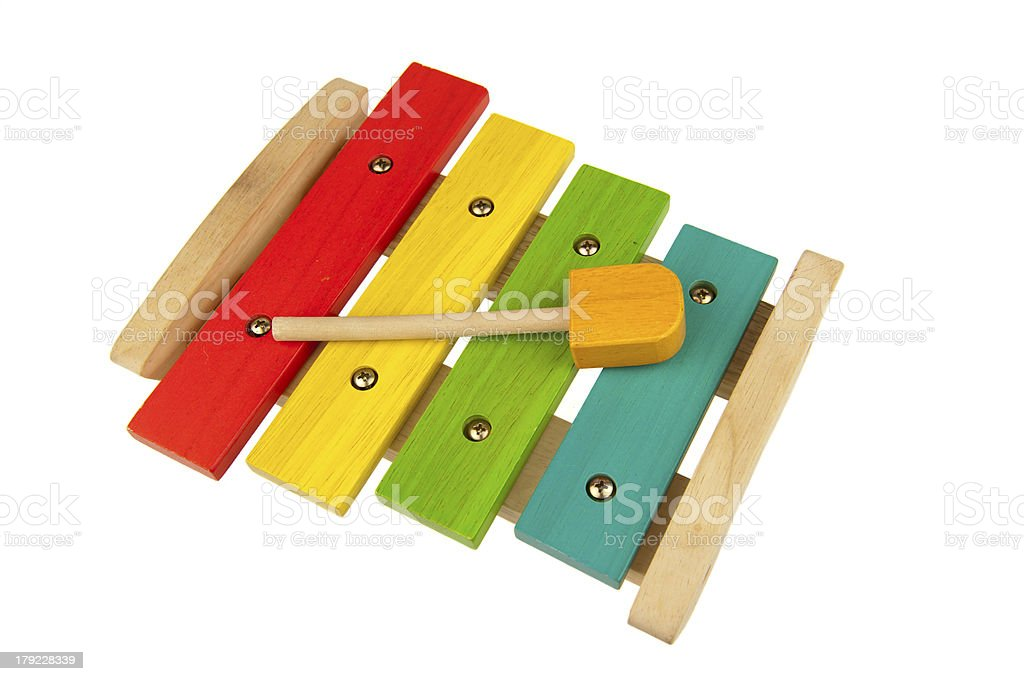 Children xylophone isolated on white royalty-free stock photo