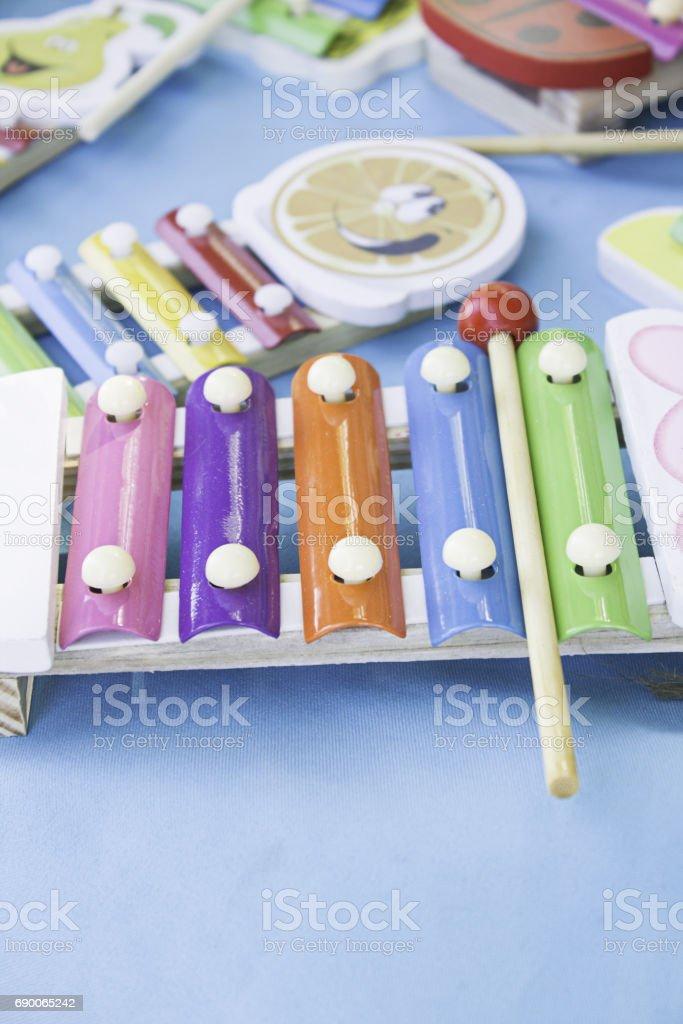 Children Xylophone stock photo