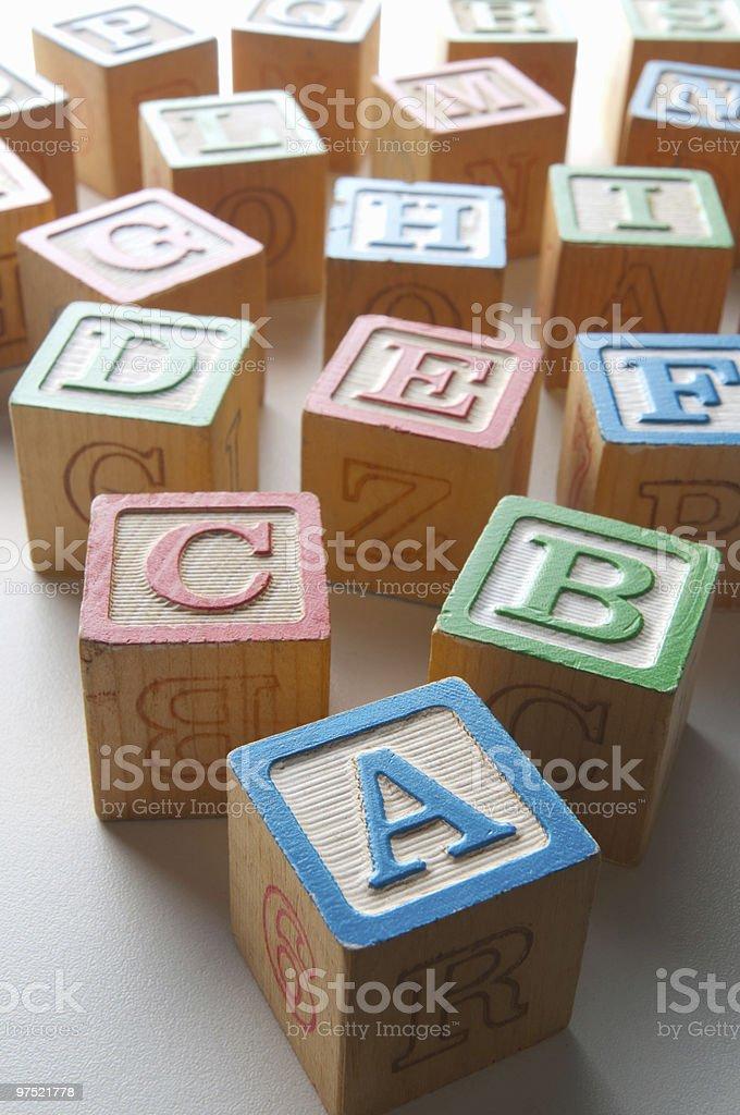 Children's alphabet blocks royalty-free stock photo