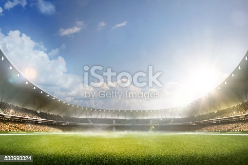 istock Childrens are playing soccer on grand arena 533993324