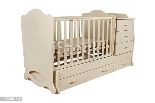 istock children's bed isolated 1160551599