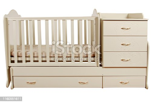 istock children's bed isolated 1160551611
