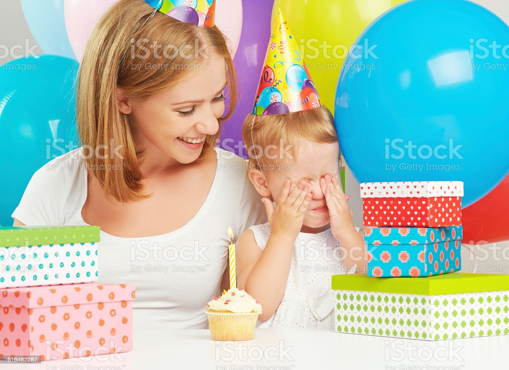 Childrens Birthday Mom Baby Daughter Balloons Cake Gifts