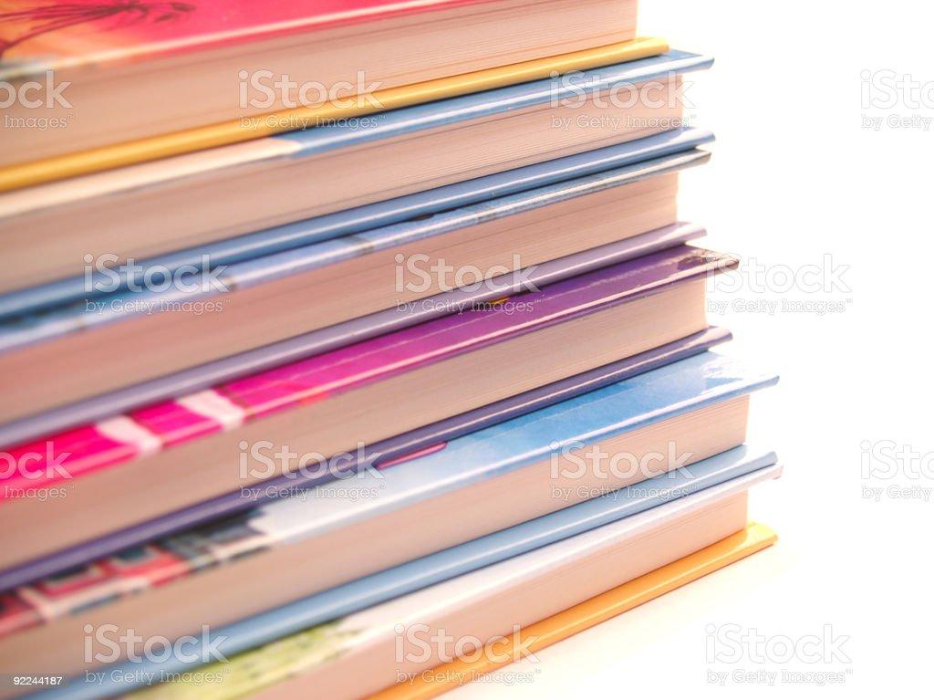 Children's Books Stacked 2 stock photo