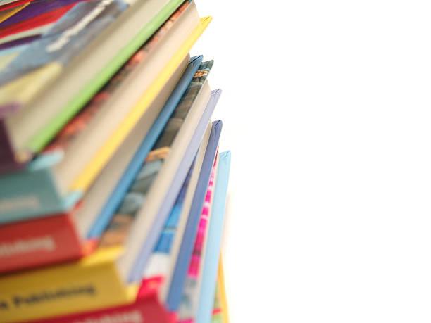 libri per bambini, impilati - fiaba foto e immagini stock