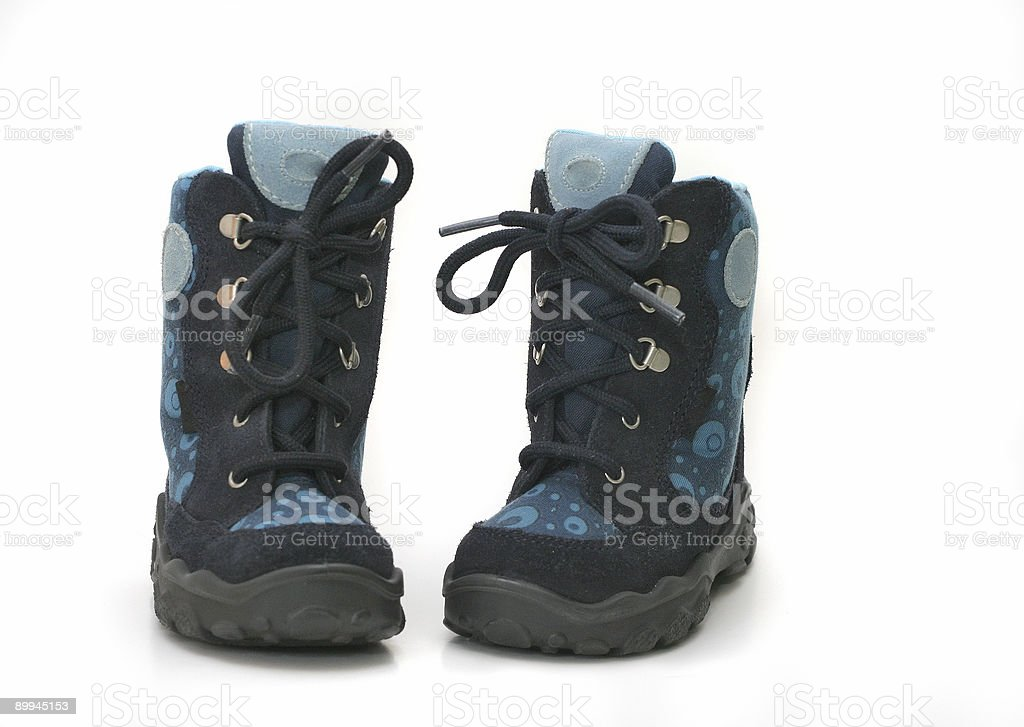 Childrens boots royalty-free stock photo