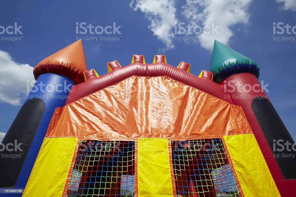 Children's Bouncy Castle Inflatable Jumper Playground stock photo