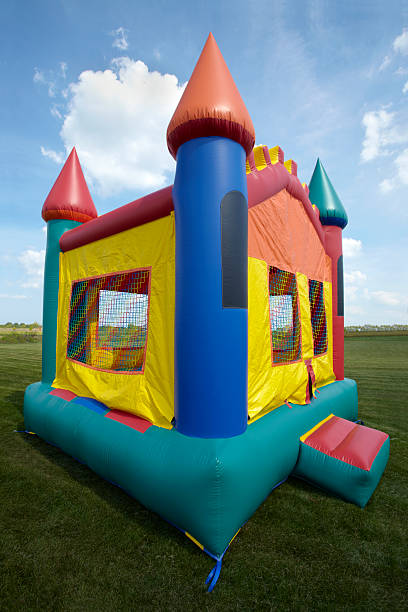 Children's Bouncy Castle Inflatable Jumping Playground stock photo