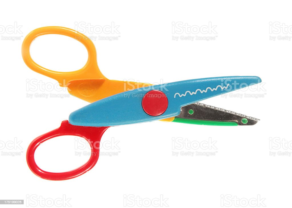 Childrens' Craft Scissors royalty-free stock photo