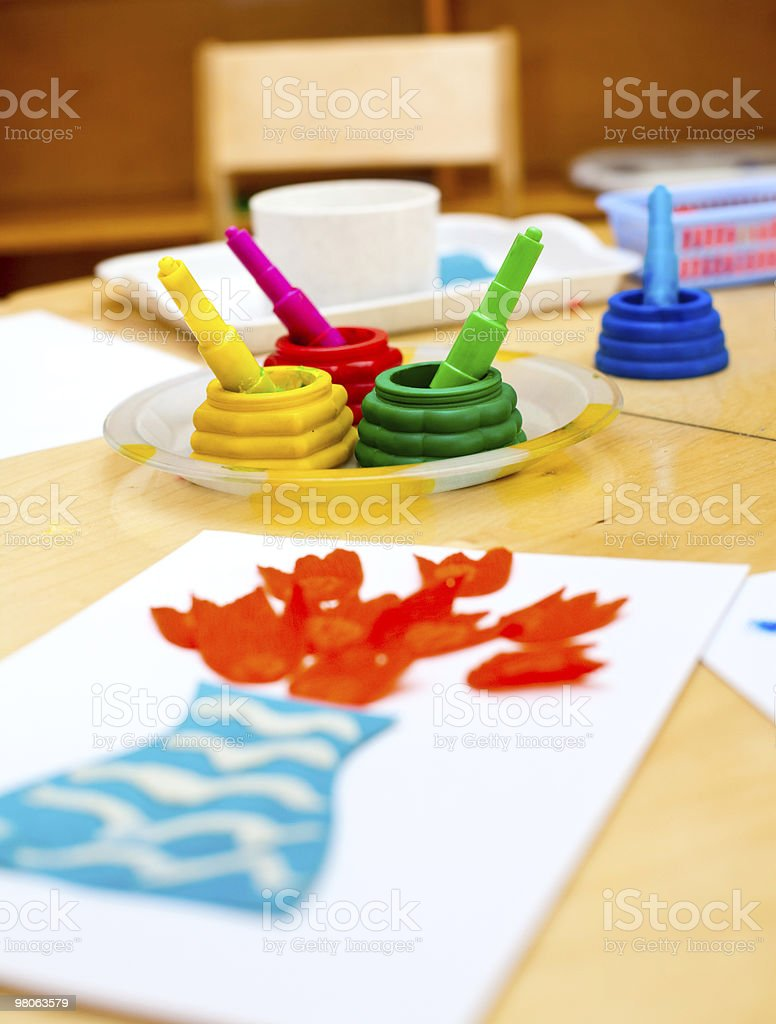 Childrens creativity concept royalty-free stock photo