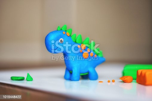 children's creativity. figurine of plasticine