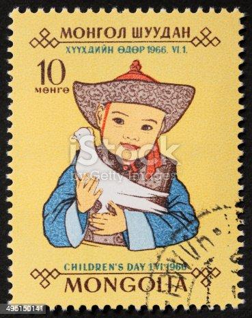 istock Children's day postage stamp 495150141
