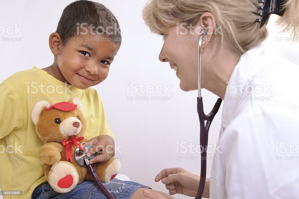 childrens doctor royalty-free stock photo