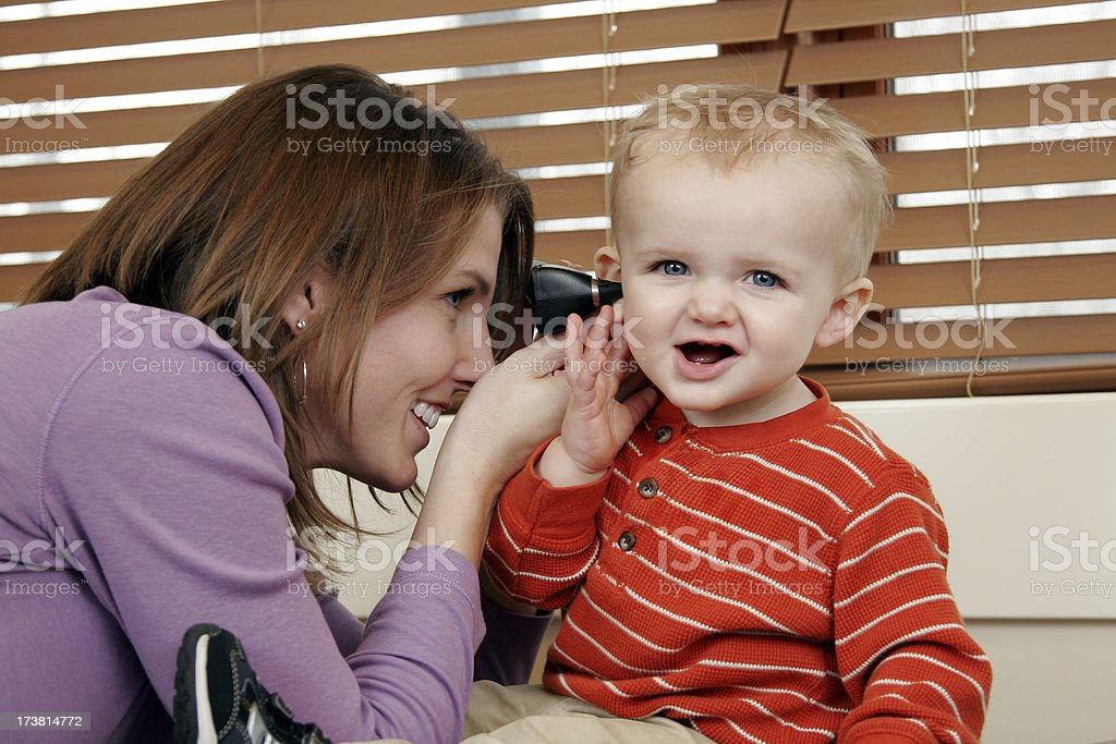 Children's Doctor Visit royalty-free stock photo