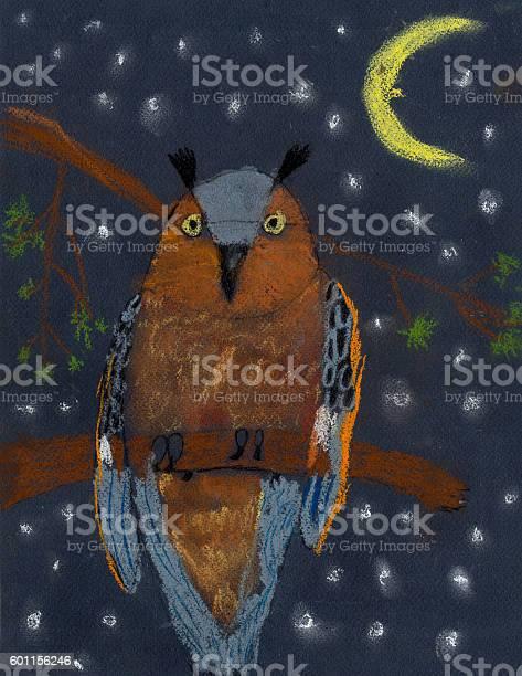 Childrens drawing color pastel menacing owl picture id601156246?b=1&k=6&m=601156246&s=612x612&h=9yhkgmuzszovyihphc 3aok7bptmli5q7vbdfvxxafw=