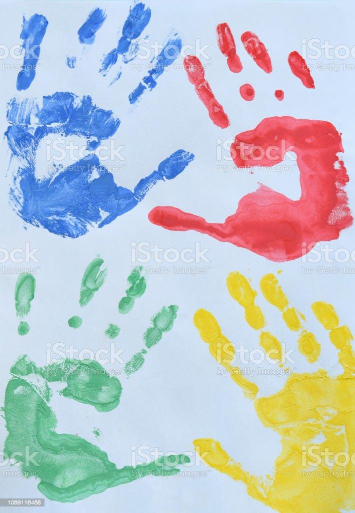 Foto De Desenho Infantil Multi Coloridas Digitais Das Criancas As