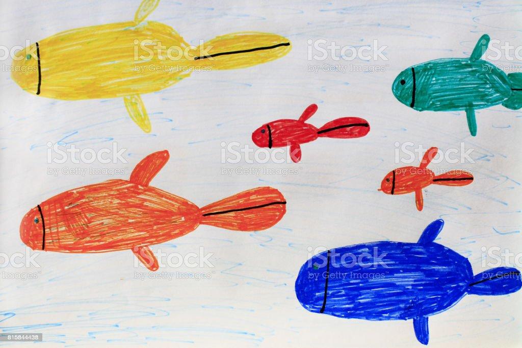 bunte fische malen  tier malen