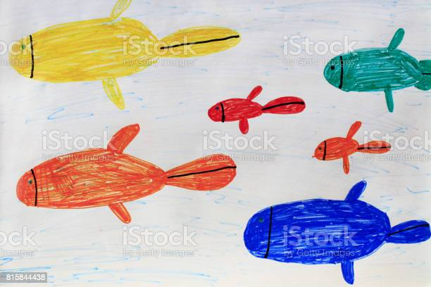 Childrens drawing of multicolored fishes picture id815844438?b=1&k=6&m=815844438&s=612x612&h=i9mk0uoidhnz gc9mkozhjbl2ocjhumf trimpzckxw=