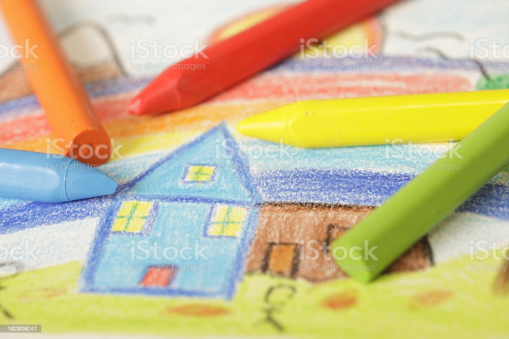 Children's drawing royalty-free stock photo