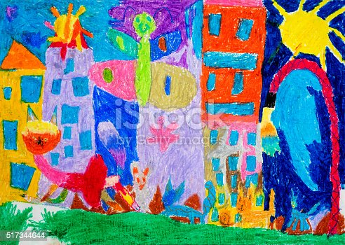 istock Children's drawing 517344644
